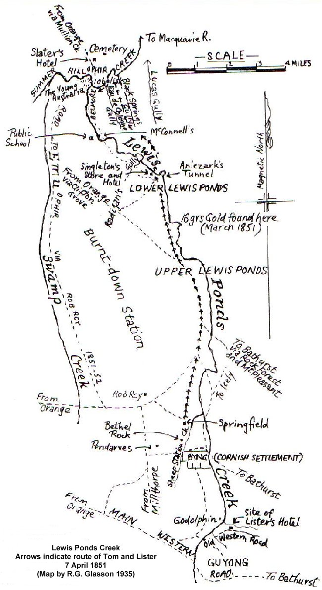 Lewis Ponds Creek map