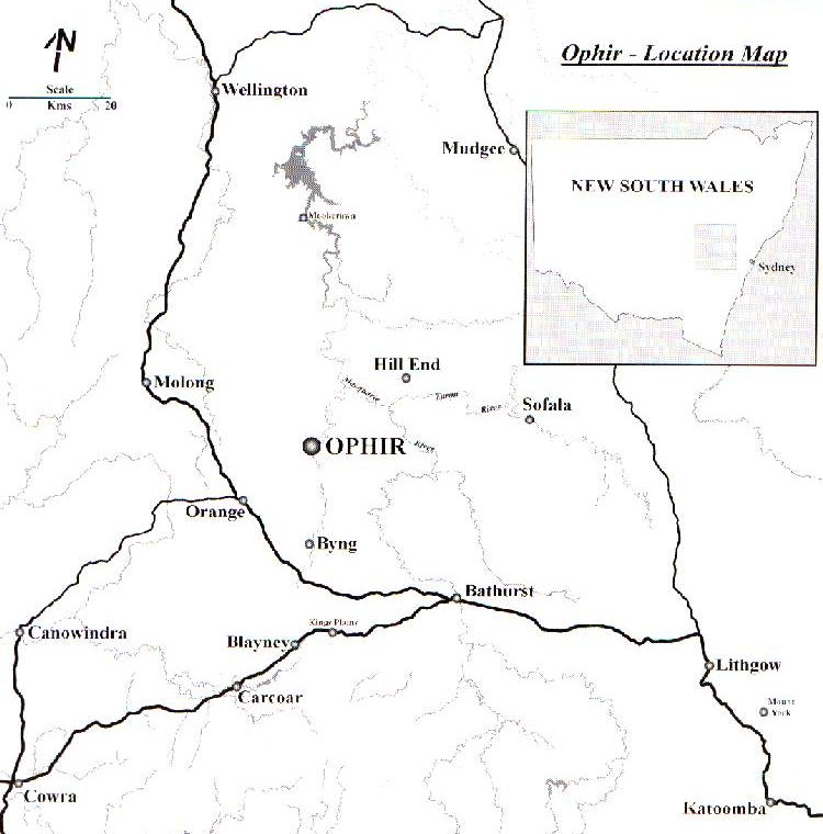 Ophir Location Map